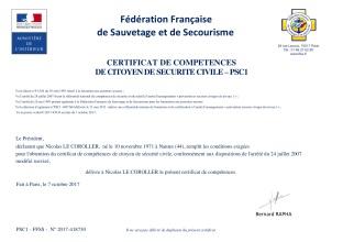 diplome_Pr�vention et Secours Civiques NICO - PSC 1_410446